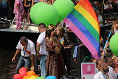 Amsterdam gay pride canal parade Royalty Free Stock Photography