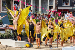 Amsterdam  Gay Pride 2014 Royalty Free Stock Photography