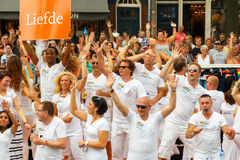 Amsterdam  Gay Pride 2014. Stock Photo