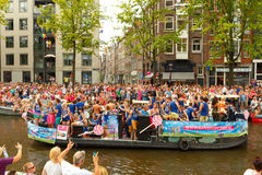 Amsterdam  Gay Pride 2014. Royalty Free Stock Images