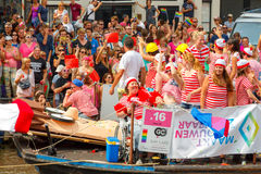 Amsterdam  Gay Pride 2014. Stock Photography
