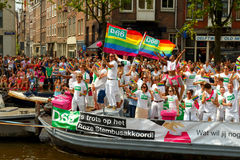 Amsterdam  Gay Pride 2014. Royalty Free Stock Photography