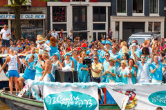Amsterdam  Gay Pride 2014. Royalty Free Stock Photo