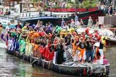 Amsterdam glad stolthet 2015 Royaltyfri Fotografi