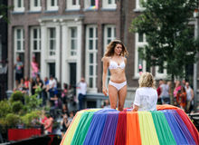 Amsterdam glad stolthet 2015 Royaltyfria Bilder