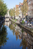 Amsterdam Gracht Reflection Stock Images