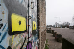 Amsterdam graffitti Royaltyfria Bilder