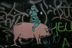 Amsterdam graffitti Royalty Free Stock Photo