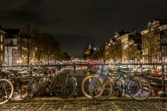 Typies amsterdam, a great city with lots of water, old buildings and colors royalty free stock photography