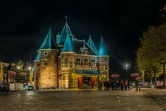 Typies amsterdam, a great city with lots of water, old buildings and colors royalty free stock photo