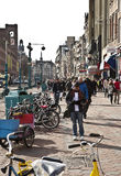 Amsterdam: Grobelna ulica Fotografia Royalty Free