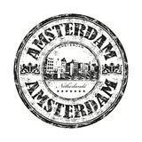 Amsterdam grunge rubber stamp Stock Image