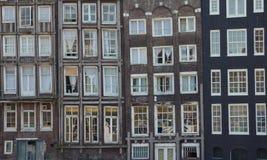 Amsterdam-Häuser Stockfotografie