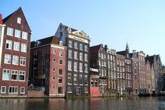 Amsterdam-Häuser Stockfotos