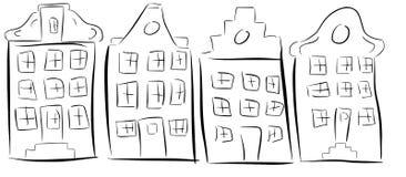Amsterdam-Häuser Lizenzfreie Stockfotos