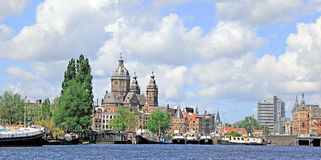 Amsterdam Harbor , Holland royalty free stock photos