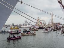 Amsterdam harbour during Sail 2015 Royalty Free Stock Photo