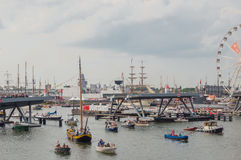 Amsterdam harbour during Sail 2015 Royalty Free Stock Photography