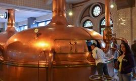 Amsterdam Heineken Museum. Amsterdam Heineken Beer Museum brewery Stock Photos