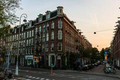 Amsterdam, Holandia - 2019 Centrum miasta Amsterdam - historyczny centre fotografia stock
