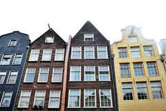 Amsterdam, Holandia, Europa - budynki fasadowi w centrum miasta Obrazy Royalty Free