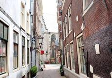 Amsterdam, Holandia, Europa - widok aleja w centrum miasta Fotografia Stock