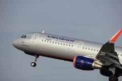 Amsterdam holandie - Czerwiec 2nd, 2017: VP-BKI Aeroflot - Rosyjskie linie lotnicze Obrazy Royalty Free