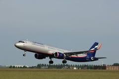 Amsterdam holandie - Czerwiec 2nd, 2017: VP-BKI Aeroflot - Rosyjskie linie lotnicze Zdjęcia Stock