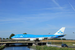 Amsterdam holandie - Czerwiec 9th 2016: PH-BFK KLM Królewski Dut Zdjęcia Royalty Free