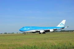 Amsterdam holandie - Czerwiec 9th 2016: PH-BFV KLM Królewski Dut Obrazy Stock
