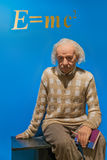 AMSTERDAM, holandie - KWIECIEŃ 25, 2017: Albert Einstein wosku sta Zdjęcie Royalty Free