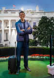 AMSTERDAM, holandie - KWIECIEŃ 25, 2017: Barack Obama wosku statua Zdjęcia Royalty Free