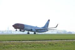Amsterdam holandie - Kwiecień 2nd, 2017: LN-NID Norwegian Air Shuttle Obraz Stock