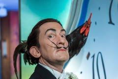 AMSTERDAM, holandie - KWIECIEŃ 25, 2017: Salvador Dali wosku statu Zdjęcia Stock