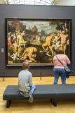 AMSTERDAM, holandie - LUTY 08: Gość przy Rijksmuseum dalej Fotografia Royalty Free