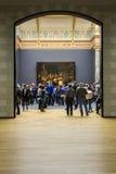 AMSTERDAM, holandie - LUTY 08: Goście przy Rijksmuseum Fotografia Royalty Free