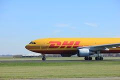 Amsterdam holandie - Marzec 25th, 2017: D-AEAS JEDZĄ Leipzig Aerobus Obraz Royalty Free