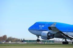 Amsterdam holandie - Marzec 25th, 2017: PH-BFY KLM Royal Dutch linie lotnicze Boeing 747 Zdjęcia Stock