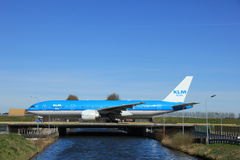 Amsterdam holandie - Marzec 25th, 2017: PH-BQN KLM Royal Dutch linie lotnicze Fotografia Stock