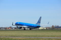 Amsterdam holandie - Marzec 25th, 2017: PH-BXT KLM Boeing Obrazy Royalty Free
