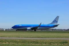 Amsterdam holandie - Marzec 25th, 2017: PH-BXZ KLM Boeing 737-800 Zdjęcie Stock