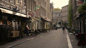 amsterdam holandie Październik 15, 2017 Amsterdam jest wielkim Europejskim kapitałem z liczbą dziejowi budynki zbiory wideo