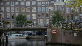 amsterdam holandie Październik 15, 2017 Amsterdam kanał w spadków kolorach zbiory