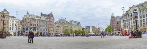 AMSTERDAM holandie - 21 09 2015: Panoramiczny widok przy tamą s Obraz Stock