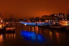 AMSTERDAM holandie - Styczeń 4, 2016: Lekki festiwal Fotografia Stock