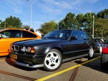 Amsterdam holandie - Wrzesień 10, 2016: Czarny BMW M5 E3 Obrazy Royalty Free