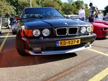 Amsterdam holandie - Wrzesień 10, 2016: Czarny BMW M5 E3 Obraz Stock