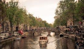 Amsterdam Holland Arkivbild