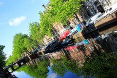 Amsterdam, Holland, canals Royalty Free Stock Photo