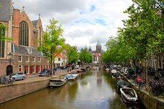 Amsterdam, Holland, canals Stock Image